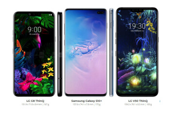 Galaxy S10+ vs LG G8 and V50, first look at Android's best flagships of the season