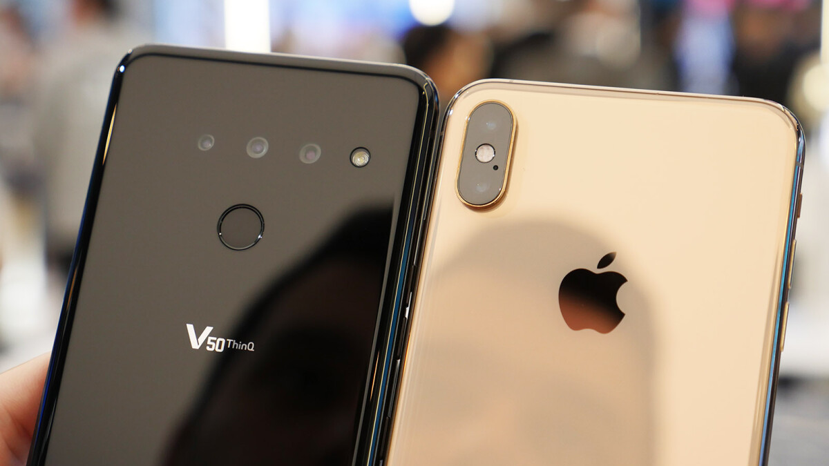 LG G8 and LG V50 versus the iPhone XS Max: first look