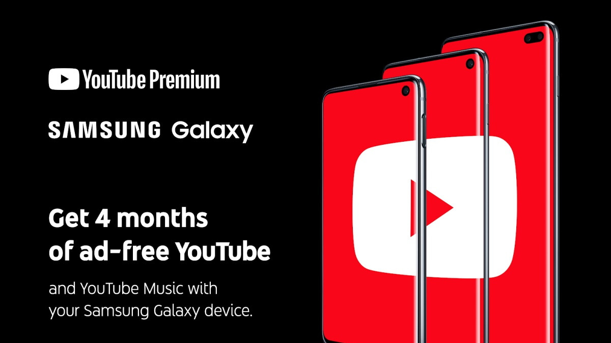 Samsung joins forces with YouTube to offer Galaxy S10 and Galaxy Fold owners a sweet gift