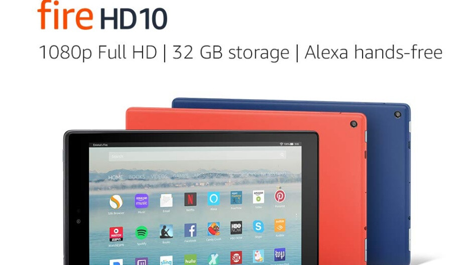 Amazon Fire HD 10 tablet scores big discount, free microSD card and case included