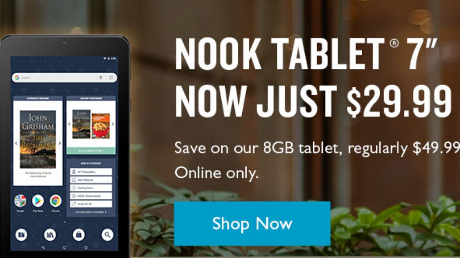 Gather around, bargain hunters, as the 8GB Nook Tablet 7 is