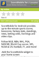 Score Mobile now available on Android Market, ESPN ScoreCenter coming soon