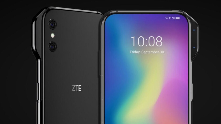 Renders show two new ZTE concept phones that are practically all screen