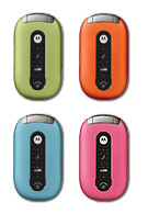 Motorola PEBL appears in four bright colors