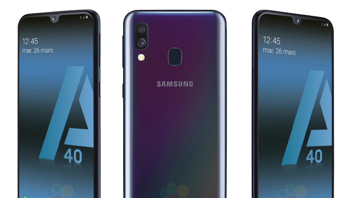 Samsung Galaxy A40 leaks out with dual-cameras and Infinity-U display