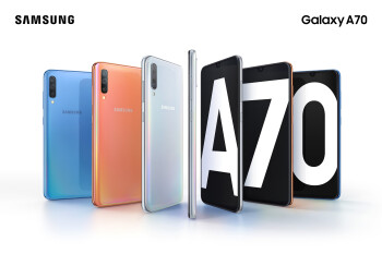 The Samsung Galaxy A70 is now official: impressive display and massive battery in tow