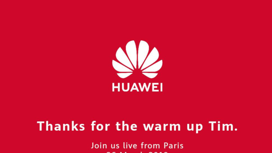 "Huawei thanks Apple and CEO Cook for warming up the crowd before tomorrow's ""main event"" - Phone Arena"