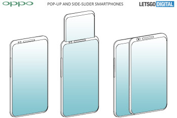 Oppo's designs are getting crazier, new patent shows pop-up display and side-sliding screen