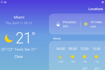 Where is the Weather app shortcut on Samsung Galaxy S10?