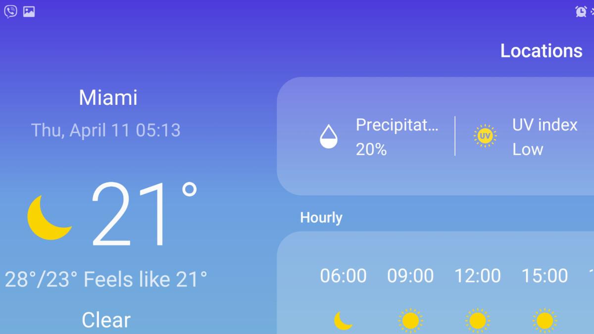 Wo ist die Wetter-App-Verknüpfung auf dem Samsung Galaxy S10?