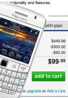 """T-Mobile's """"flash white"""" BlackBerry Bold 9700 splashes down with a $99.99 price tag"""