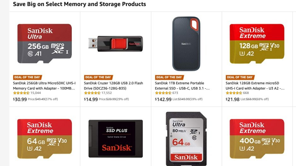 Amazon has some of the best SanDisk microSD cards and other storage products on sale today