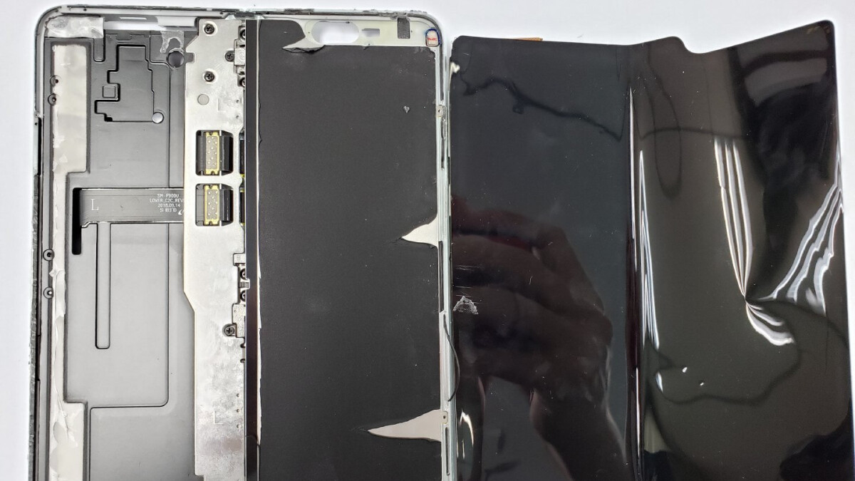 First Galaxy Fold teardown shows influencers how to properly peel off the 'piece of rubber' display