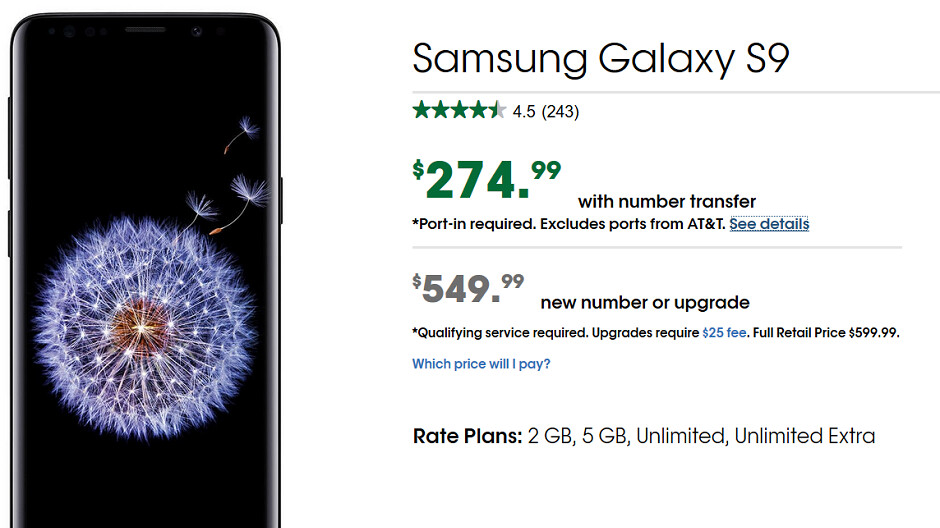 Cricket Has A Great Deal On The Samsung Galaxy S9 Pay 275
