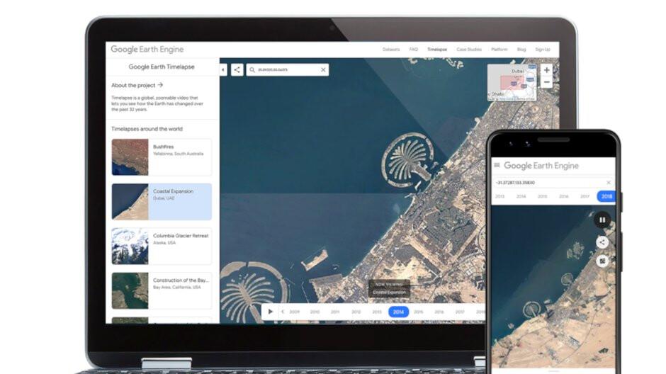 Google Earth Timelapse arrives on mobile