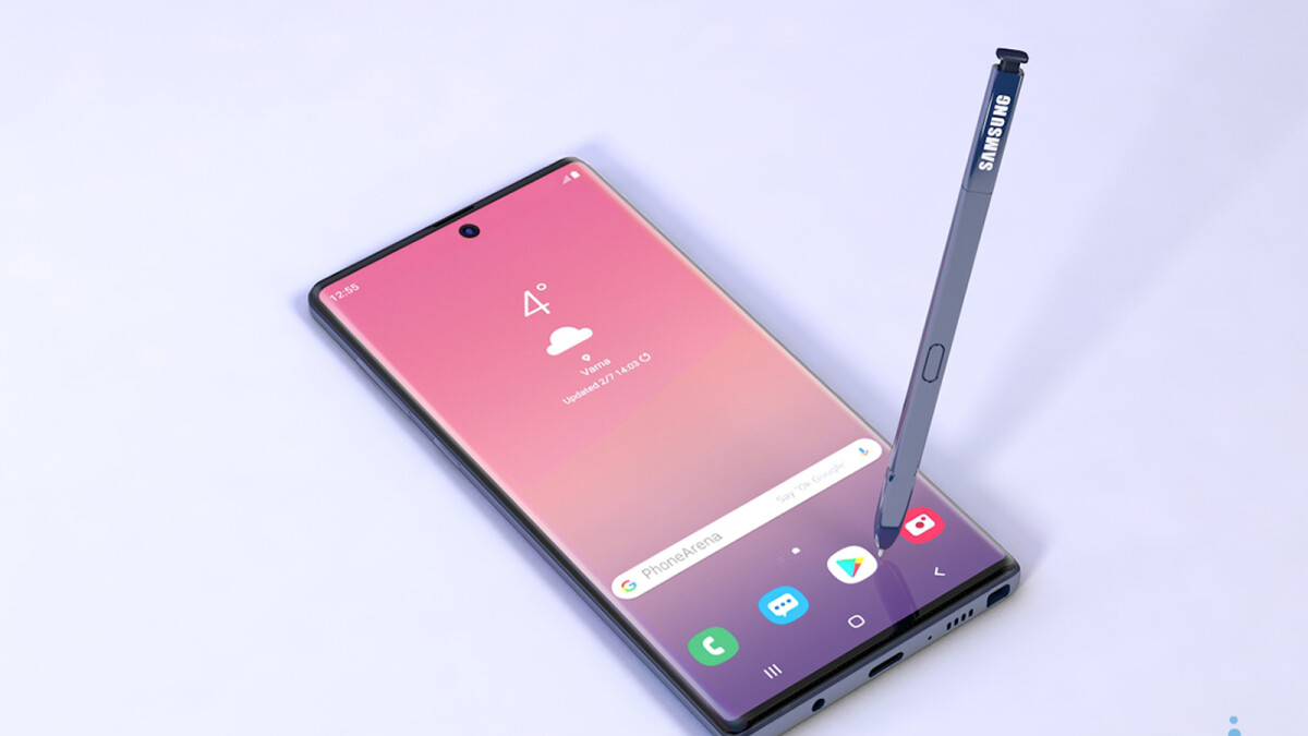 Samsung Galaxy Note 10 may go back to a more curved display and have a centered selfie camera