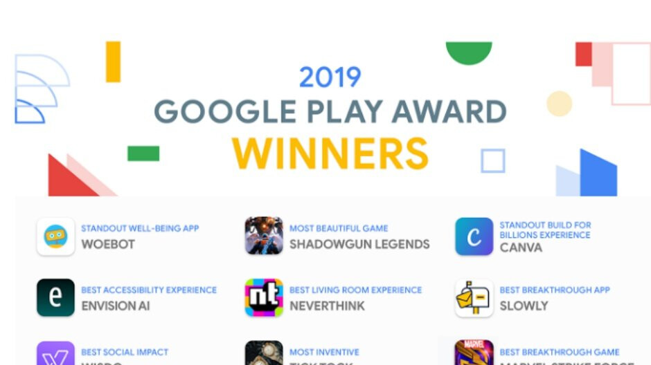 This year's Google Play Award winners include a bunch of Android apps and games you should try out
