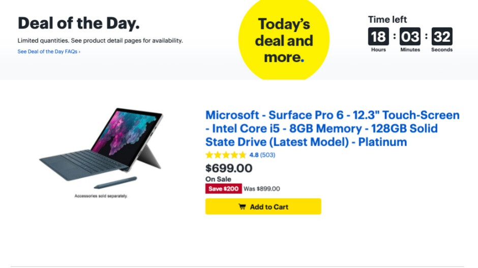Microsoft Surface Pro 6 scores $200 discount today only in its most affordable variant