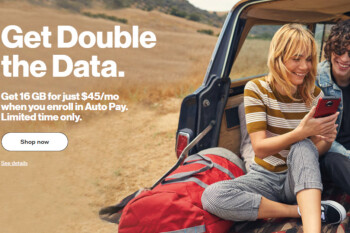 Verizon kicks off prepaid promotion that offers double the data and up to 16GB for $45