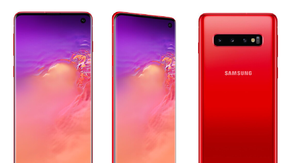 The Cardinal Red Galaxy S10's launch might be very near