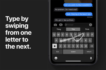 Years after Android, iPhone native keyboard - finally! - gets swipe typing