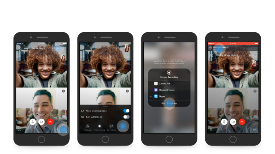 Skype launches screen sharing on Android and iOS, mobile calling redesign