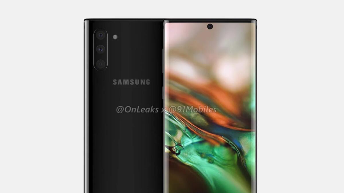 Samsung Galaxy Note 10 renders leak revealing drastic redesign