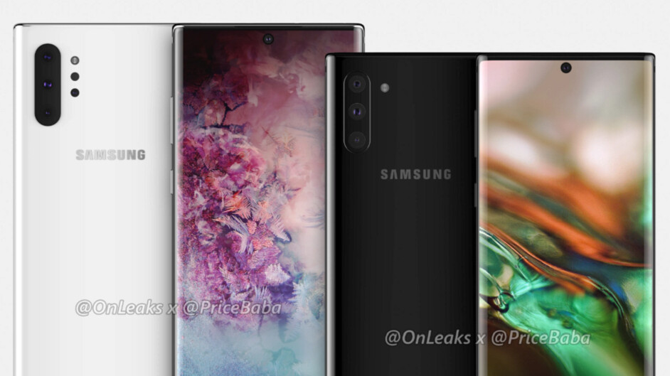 Samsung Galaxy Note 10 case renders