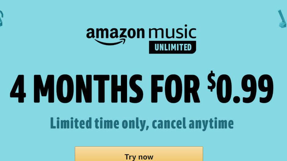 Deal: Get 4 months of Amazon Music Unlimited for less than $1
