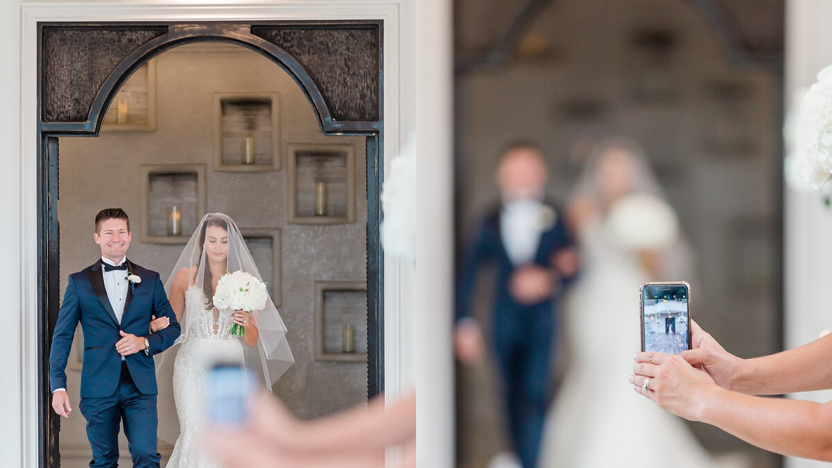 'More brides opt for an 'unplugged wedding ceremony'