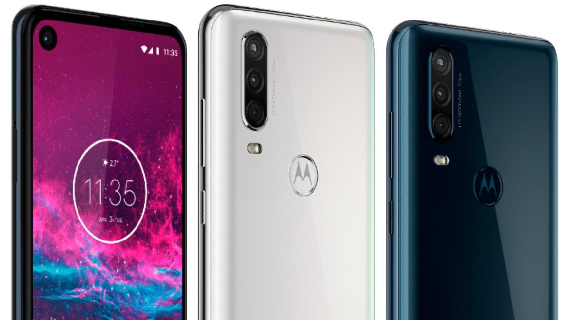 Here's the Motorola One Action leaked in blue and white, awaiting imminent release