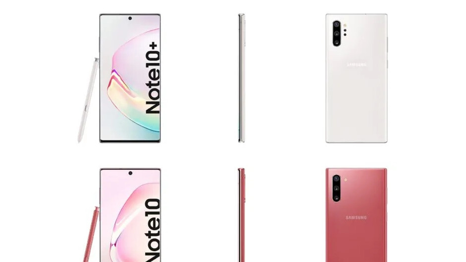 Note 10 and 10+ missing Aura White hue leaks, here are all their colors at release