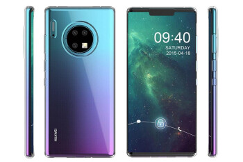 Huawei Mate 30 Pro case render shows off a circular camera module on back