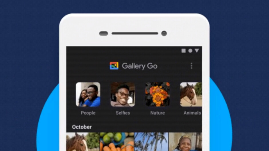 Google rolls out dark theme to Gallery Go just one month after launch