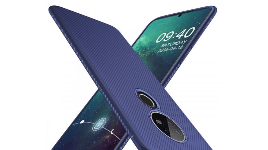 More Nokia 7.2 case renders show thin body, triple camera, waterdrop notch