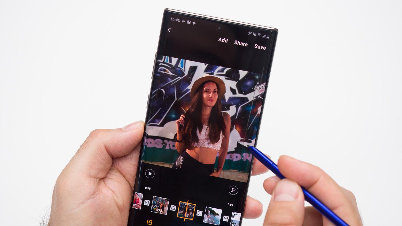 So bearbeiten Sie Videos mit dem Samsung Galaxy Note 10-Videoeditor