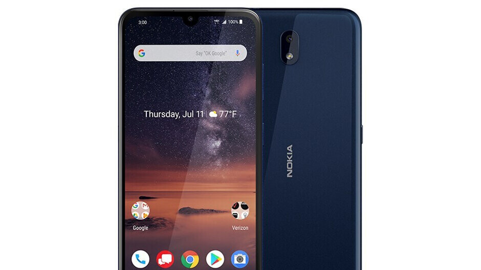 Verizon's brand-new Nokia 3 V is already available free of charge with a new line