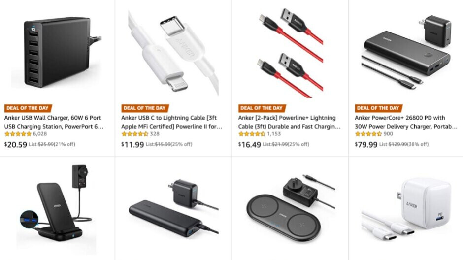 Amazon has a whole bunch of popular Anker chargers and