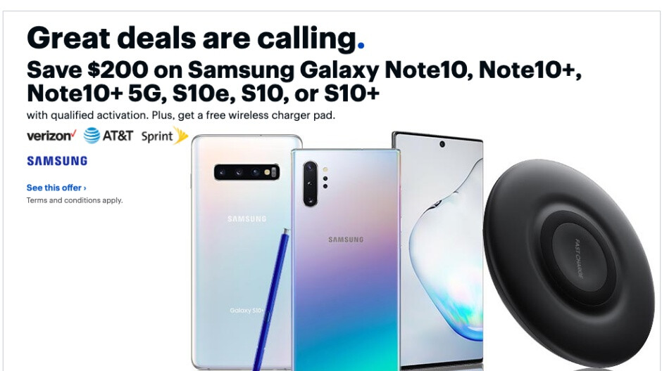 Galaxy Note 10 and Note 10+ score $200 discounts at Best Buy, free wireless charger included
