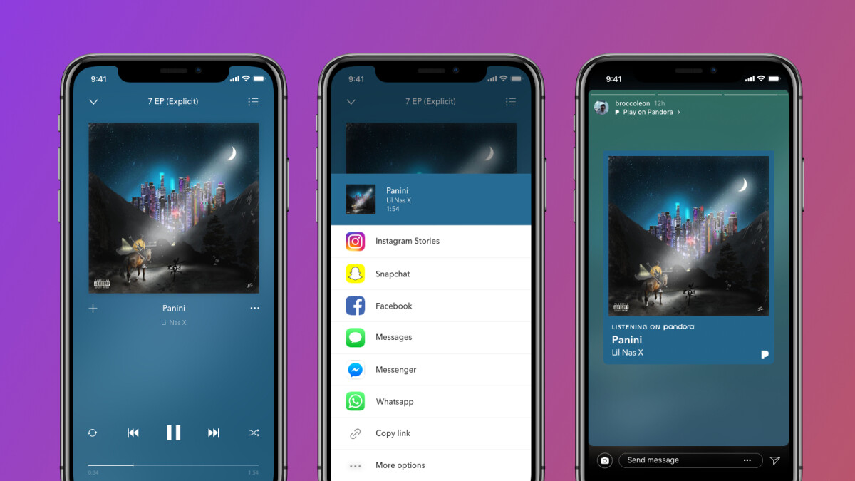 Pandora announces new integration with Instagram Stories