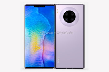 Huawei Mate 30 Pro leaks in full with a 'waterfall' display, circular quad camera setup, and no volume buttons