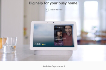 It's official: Google will release the Nest Hub Max on September 9