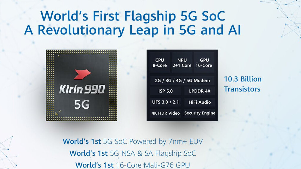The new Kirin 990 chipset is built like Apple A13 and bests it with a key feature