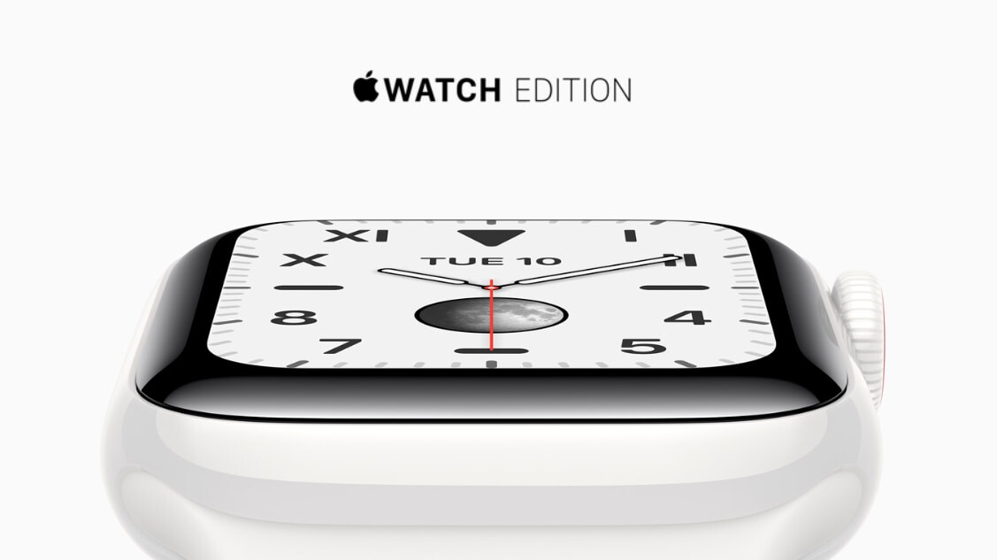 Titanium & Ceramic Apple Watch Series 5 models include extra Sport Band in box