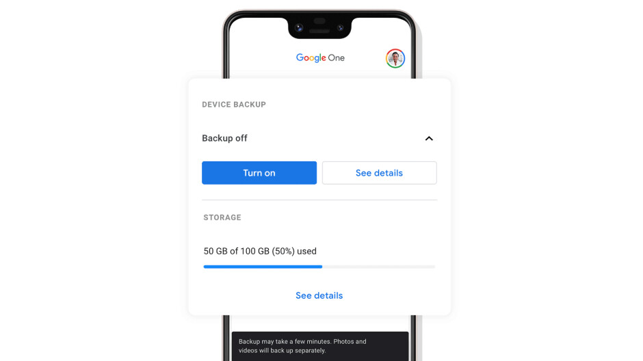 Google One paid storage service gets more phone backup features
