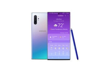 Samsung Galaxy Note 10 users are getting better weather data thanks to new partnership