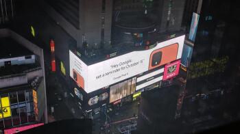Times Square teaser confirms Coral/Orange Google Pixel 4
