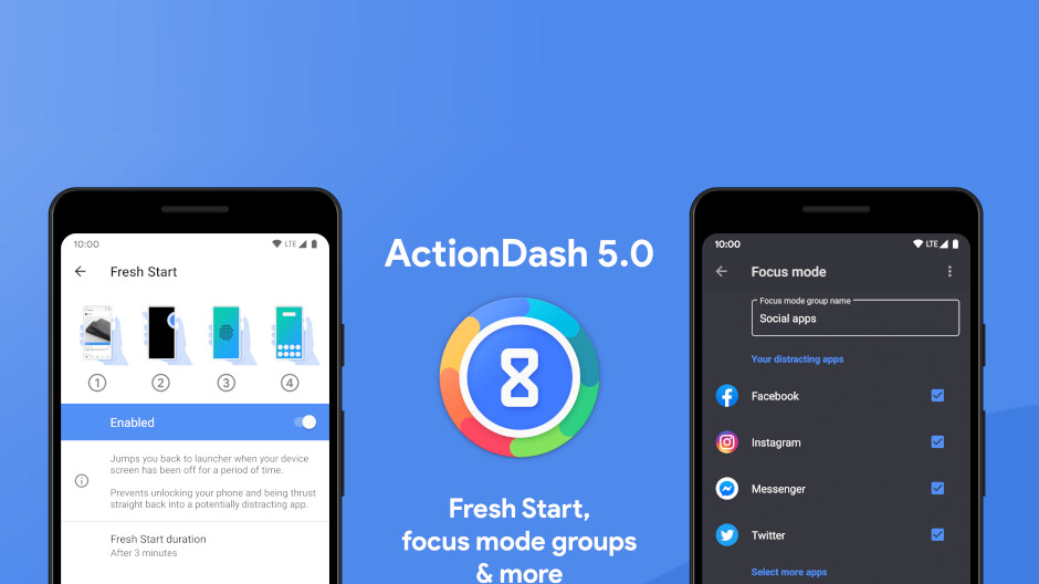 ActionDash 5.0 major release adds new Fresh Start feature, more focus mode options