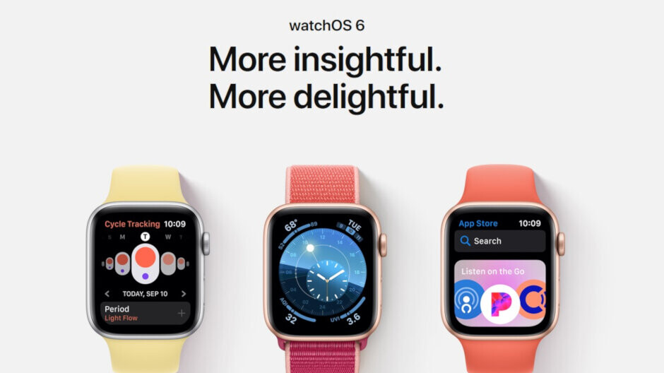 Apple pushes out watchOS 6 for the Series 3 and Series 4 Apple Watch