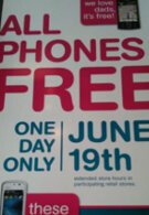 Poster reveals T-Mobile's plan on selling all phones for free on June 19